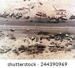 aerial view of destroyed iraqi... | Shutterstock . vector #244390969