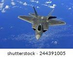 F 22 Raptor Fighter Flies Near...