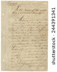 Small photo of First page of Treaty of Paris 1783. It ended the American Revolutionary War between the Kingdom of Great Britain and the United States of and was signed on September 3. 1783 ratified January 14 1784.