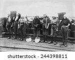 belgian women coal miners... | Shutterstock . vector #244398811