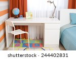 interior of a children's room ... | Shutterstock . vector #244402831