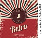 retro space rocket | Shutterstock .eps vector #244406401