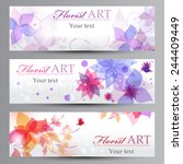 banners with a flowers | Shutterstock .eps vector #244409449