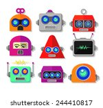 Robot Face Vector Set