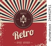 retro space rocket | Shutterstock .eps vector #244412911
