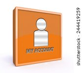 my account square icon on white ...   Shutterstock . vector #244419259