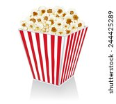 illustration of popcorn in a... | Shutterstock .eps vector #244425289