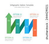 infographic option template in... | Shutterstock .eps vector #244429021