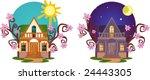 lovely small house. | Shutterstock .eps vector #24443305