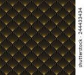 art deco art deco sun rays... | Shutterstock .eps vector #244433434