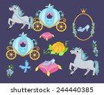 cinderella vector illustration... | Shutterstock .eps vector #244440385
