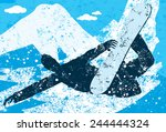 snowboarder a snowboarder doing ... | Shutterstock .eps vector #244444324