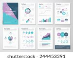 Business graphics in infographic brochure illustration style. Vector illustrations of modern info graphics. Use in website, flyer, corporate report, presentation, advertising, marketing etc.