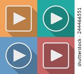 set of play button icons with a ... | Shutterstock .eps vector #244466551