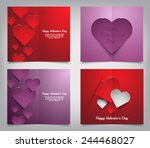 set of valentines day greeting... | Shutterstock .eps vector #244468027