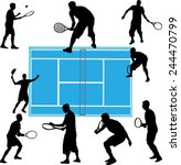 tennis players collection  ... | Shutterstock .eps vector #244470799