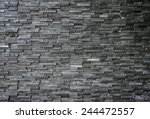 Black Slate Wall Texture And...
