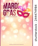 light pink mardi gras vector... | Shutterstock .eps vector #244474984