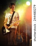 denver june 26   guitarist john ...   Shutterstock . vector #244480279
