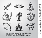 Set Of Hand Drawn Fairytale ...