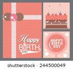 happy birthday card    Shutterstock .eps vector #244500049