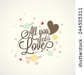 happy valentines day... | Shutterstock .eps vector #244505311