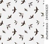 swallows. seamless pattern.... | Shutterstock .eps vector #244506325