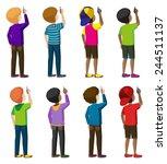 eight faceless young men...   Shutterstock .eps vector #244511137
