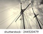Low Angle Take Of Sailboat...