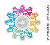 teamwork concept | Shutterstock .eps vector #244522651