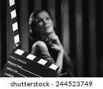hollywood black and white  a... | Shutterstock . vector #244523749