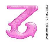 purple pink abc  letter z... | Shutterstock . vector #244526869