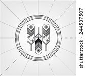 feathers symbol logo. ornament. ... | Shutterstock .eps vector #244537507