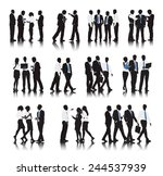 vector of multi ethnic business ... | Shutterstock .eps vector #244537939