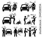 road bully driver rage stick... | Shutterstock .eps vector #244538554