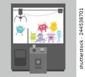 claw crane game machine | Shutterstock .eps vector #244538701