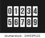 flat modern flip board number...