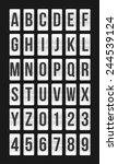 flat modern flip board alphabet ...