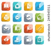email flat icons with color... | Shutterstock .eps vector #244545511
