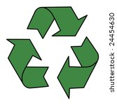 stylized recycle sign in green... | Shutterstock . vector #24454630