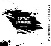 black ink grunge banner... | Shutterstock .eps vector #244546531