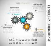 vector illustration of trade... | Shutterstock .eps vector #244550755