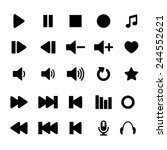 player icon set | Shutterstock . vector #244552621