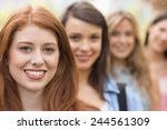happy students smiling at... | Shutterstock . vector #244561309