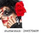 beauty fashion model in... | Shutterstock . vector #244570609