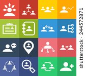 set of simple icons for... | Shutterstock .eps vector #244572871
