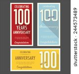 anniversary label collection ... | Shutterstock .eps vector #244573489