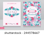 beautiful floral wedding... | Shutterstock .eps vector #244578667
