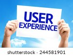 user experience card with a...