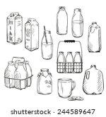 milk. packaging. vector... | Shutterstock .eps vector #244589647